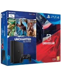PS4 1TB SLIM KONSOL + UNCHARTED COLLECTION + DRIVECLUB PS4 OYUN